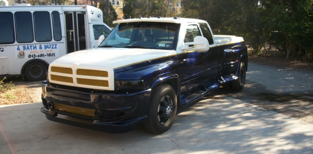 Here is one of Charlies complete restorations a Dodge Step Side PU.